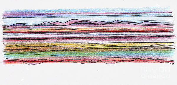 Bay Art Print featuring the digital art Bay Lines by Andy Mercer