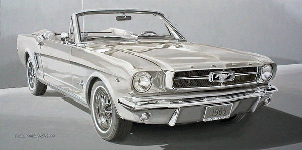 1965 Ford Mustang Art Print featuring the painting 1965 Ford Mustang by Daniel Storm