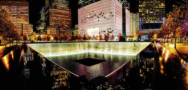 New Art Print featuring the photograph 911 Memorial Pool by M G Whittingham