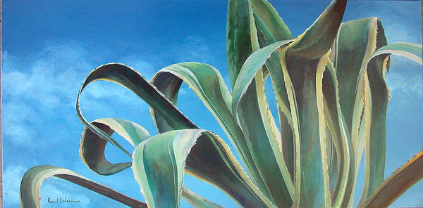 Floral Painting Art Print featuring the painting Agave by Muriel Dolemieux