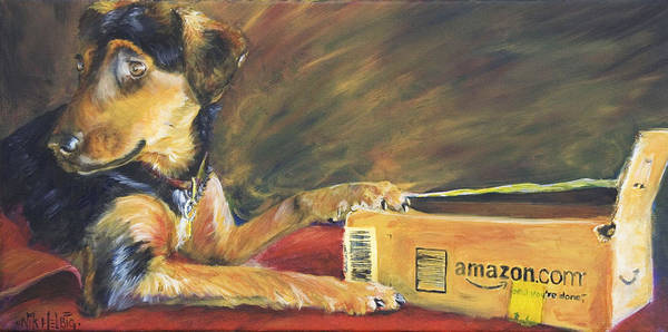 Dog Art Print featuring the painting And Youre Done by Nik Helbig