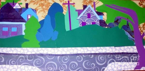 Landscape Art Print featuring the mixed media Art Colony by Debra Bretton Robinson