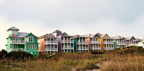 Awesome Atlantic Beach Nc Beach Houses Art Print Home Remodeling Inspirations Basidirectenergyitoicom