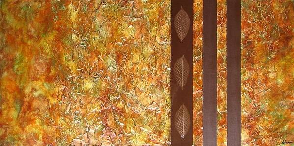 Texture Art Print featuring the painting Autumn Harvest by Sophia Elise
