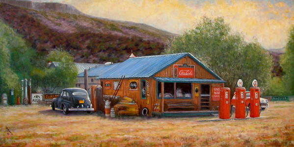 Realism Art Print featuring the painting Below Taos 3 by Donelli DiMaria