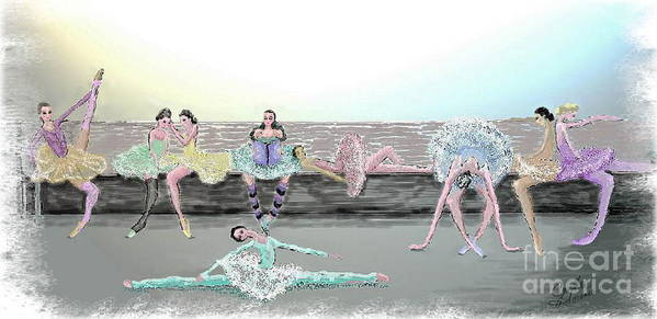 Ballet Art Print featuring the painting Between Acts by Cynthia Sorensen