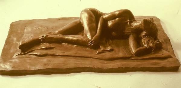 Realism Art Print featuring the sculpture Bikini Babe by Harry Weisburd