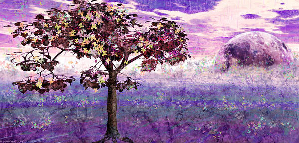 Trees Art Print featuring the digital art Butterfly Tree by Margaret Hormann Bfa