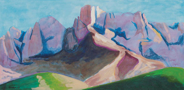 Landscape Art Print featuring the painting Catalina Blue by Mordecai Colodner