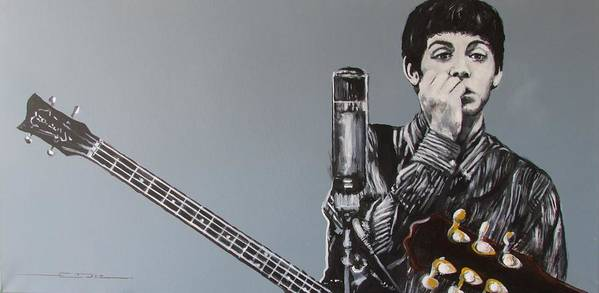 Paul Mccartney Art Print featuring the painting D-note by Eric Dee