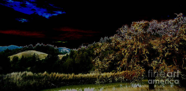 Night Art Print featuring the photograph Darkness At The Edge Of Dawn by JoAnn SkyWatcher