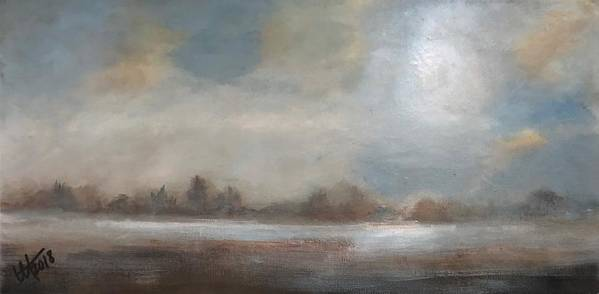 Prairies Art Print featuring the painting Early Winter Mist by Terry Orletsky