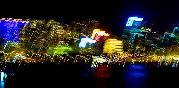 Night Art Print featuring the photograph Electri City by Roberto Alamino
