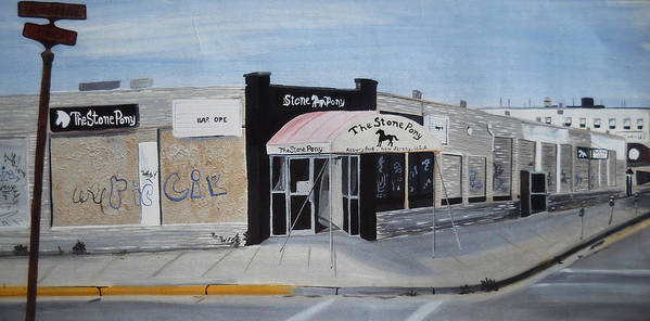 Acrylic Painting Of The Stone Pony Art Print featuring the painting End Of An Era by Patricia Arroyo