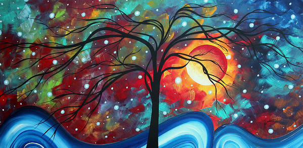 Original Art Print featuring the painting Envision The Beauty By Madart by Megan Duncanson
