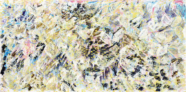 Abstract Art Print featuring the painting Flock Of Birds by Joan De Bot