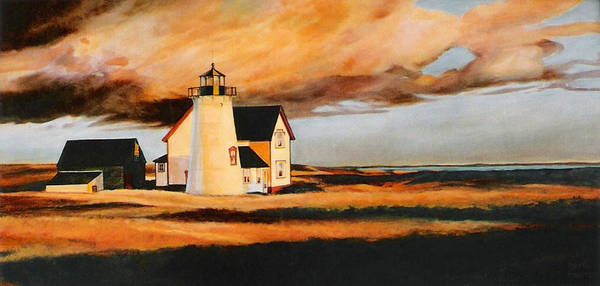 Cape Cod Art Print featuring the painting Forgotten Light by Keith Gantos