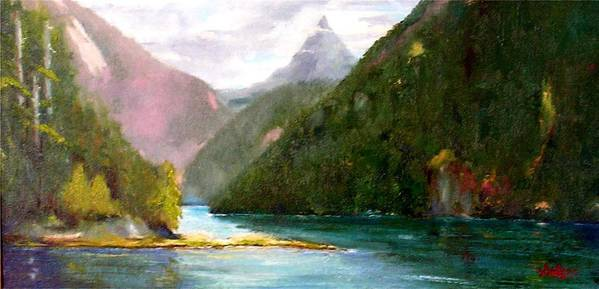 Vancouver Island Art Print featuring the painting Head Bay - Vancouver Island by David Sullins