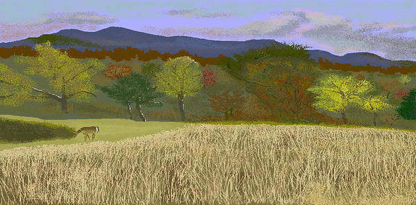 Hills Art Print featuring the digital art Hill Country Colors by Carole Boyd