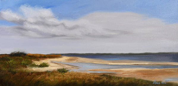 Landscape Art Print featuring the painting Honeymoon Island by Greg Neal