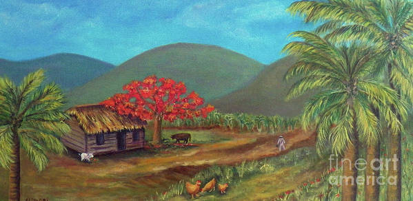 Landscape Art Print featuring the painting I Dream Of Cuba by Alina Martinez-beatriz
