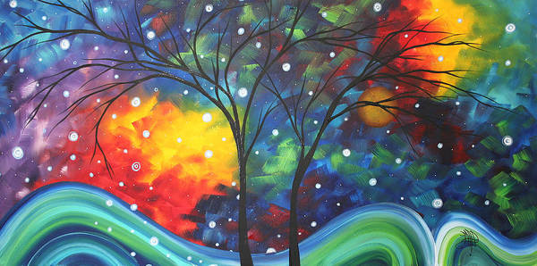 Abstract Art Print featuring the painting Joy By Madart by Megan Duncanson