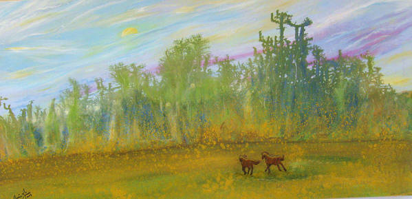 Contemporary Horse Art Print featuring the painting Le Fantastique by Annie Rioux