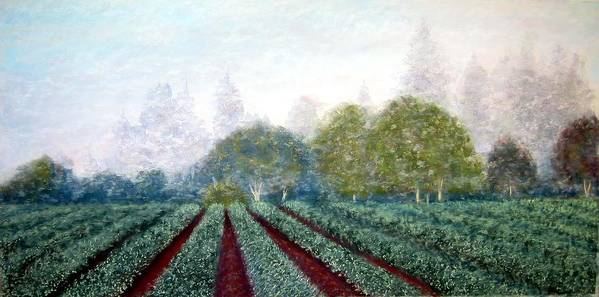 Landscape Art Print featuring the painting Misty Blue by Carl Capps