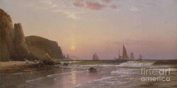 Canadian Art Print featuring the painting Morning At Grand Manan by Alfred Thompson Bricher