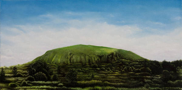 Landscape Art Print featuring the painting Mount Coolum by Joe Michelli