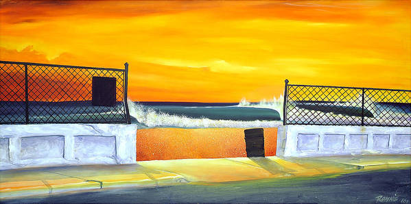 Surf Art Print featuring the painting N.e.p. by Ronnie Jackson