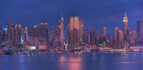 Nyc Skyline Art Print featuring the photograph New York City by Kirit Prajapati
