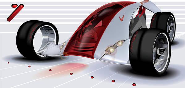 Nike Art Print featuring the digital art Nike Concept Car Ai by Brian Gibbs