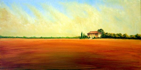 Landscape Art Print featuring the painting Open Field by Wesley Pack