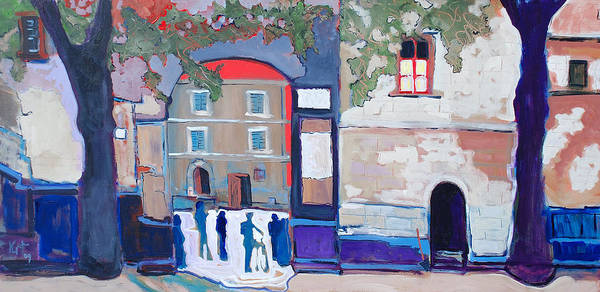 Village Art Print featuring the painting Palazzo Di Villafranca by Kurt Hausmann