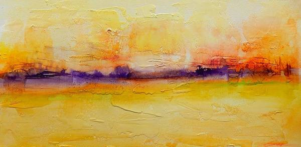 Beach Art Print featuring the painting Pancake Ridge2 by J Price Garner