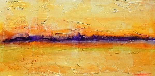 Landscape Art Print featuring the painting Pancake Ridge#1 by J Price Garner