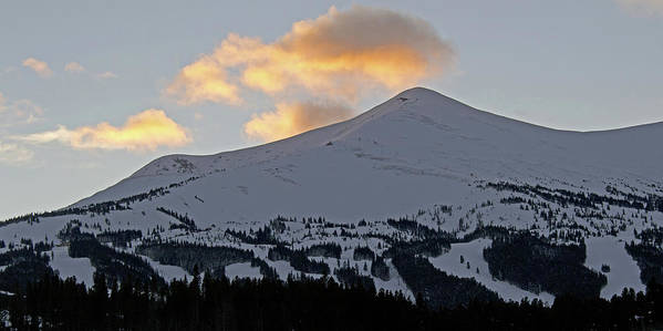 Breckenridge Print featuring the photograph Peak 8 At Dusk - Breckenridge Colorado by Brendan Reals