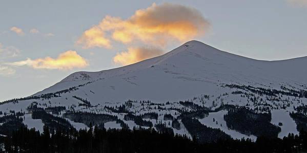 Breckenridge Art Print featuring the photograph Peak 8 At Dusk - Breckenridge Colorado by Brendan Reals