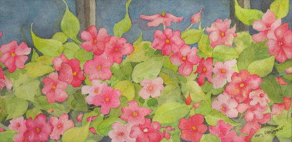 Flowers Art Print featuring the painting Perky by Mary Ellen Mueller Legault