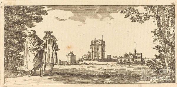 Art Print featuring the drawing Plan General Du Chasteau Et Petit Parc De Vincennes by Isra?l Silvestre