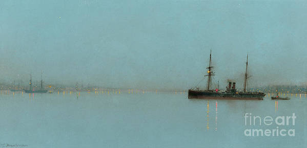 Port Print featuring the painting Port Light by John Atkinson Grimshaw