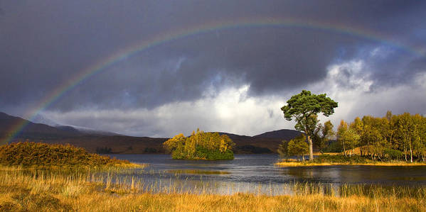 Scotland Art Print featuring the photograph Rainbow Loch Tulla by John McKinlay