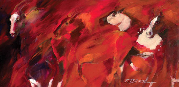 Nature Art Print featuring the painting Red Runners by Ron Patterson
