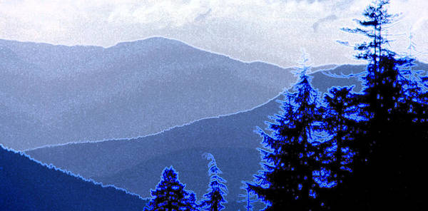 Mountains Art Print featuring the photograph Ridge Layers 4 Ae by Lyle Crump