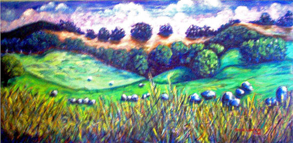 Landscape Art Print featuring the painting Santa Rosa Plateau by Steve Lawton