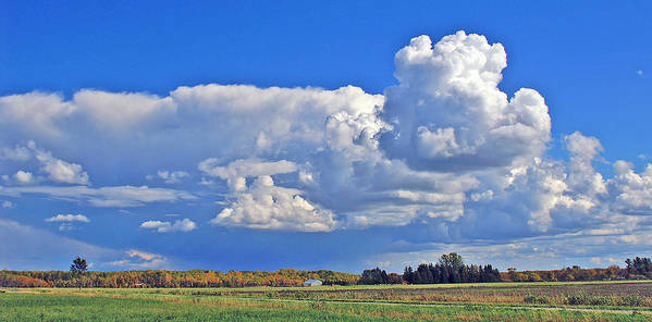 Landscape Art Print featuring the photograph September Clouds by Bill Morgenstern
