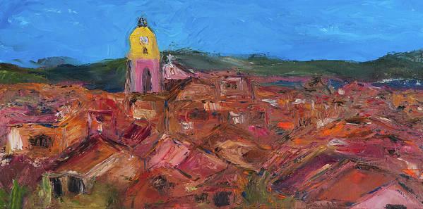 St. Tropez Art Print featuring the painting St. Tropez by Dan Castle