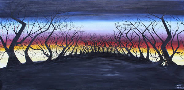 Trees Art Print featuring the painting The Hill by Tammy Dunn