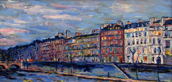 Seine Art Print featuring the painting The Seine In Paris by Rob White